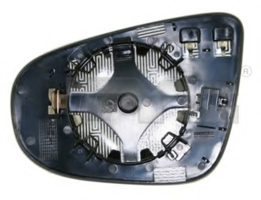 Стекло зеркала лев с подогр, асферич VW: GOLF VI(2008-), TOURAN (2009-)