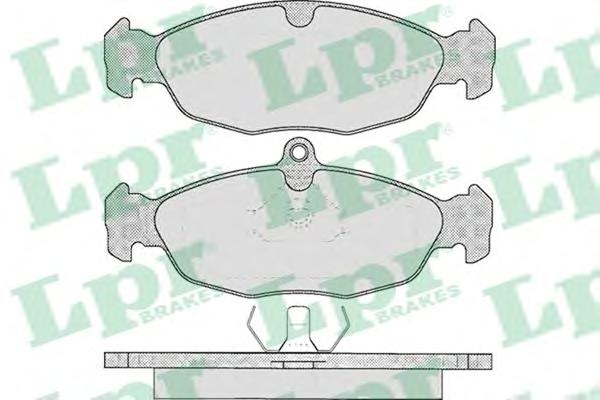 Комплект тормозных колодок 05P599