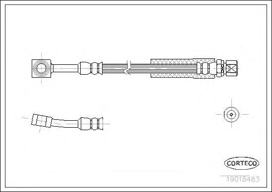 Тормозной шланг передний [320mm]