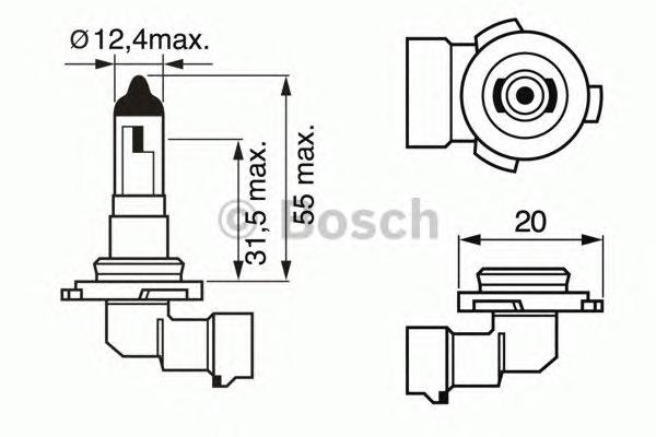 Лампа STANDARD H10 12V 42W 1987302083