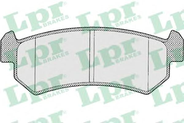 Комплект тормозных колодок 05P1199