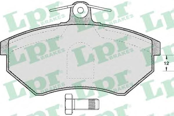 Комплект тормозных колодок 05P613