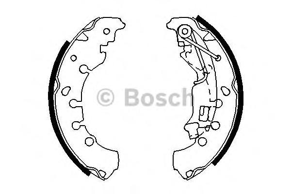 Колодки тормозные BOSCH 0986487702 OPEl Corsa D (только 3 дверные)