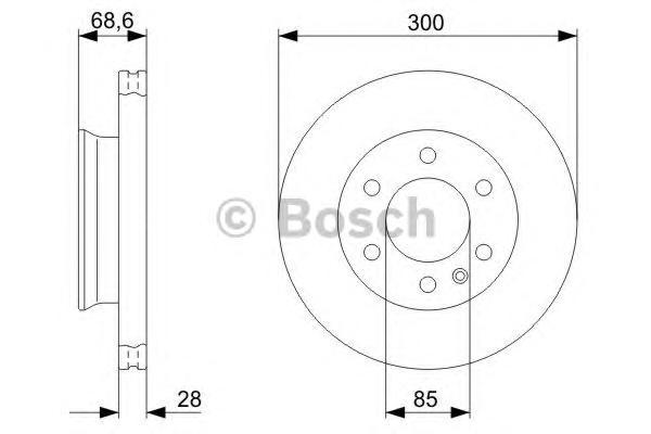 Диск тормозной MERCEDES SPRINTER 06-/VW CRAFTER 06- передний вент.D=300мм.