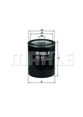 Фильтр масляный OPEL Ascona C 1.6D, Astra F 1.7D 92-, Kadett D/E 1.6D -91, Vectra A 1.7D -95