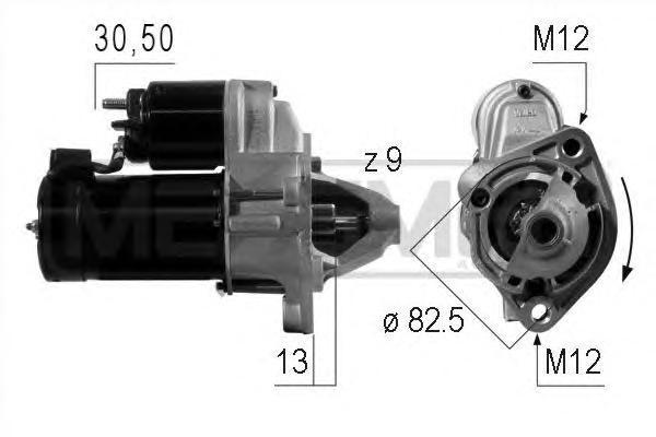 Стартер мощность 1,1кВт A6 97-05 220004