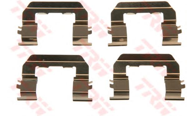 Пружинки тормозных колодок HYUNDAI: SANTA FE I 2.2 CRDi/2.2 CRDi 4x4/2.7/2.7 4x4 00-06, SANTA FE II 2.2 CRDi/2.2 CRDi 4x4/2.2 CRDi GLS/2.2 CRDi GLS 4x4/2.7 4x4/2.7 V6 GLS/2.7 V6