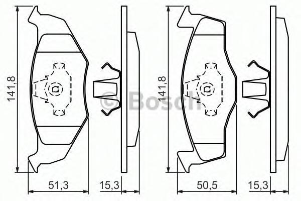 Колодки тормозные VOLKSWAGEN GOLF III/POLO/VENTO 91-01 передние