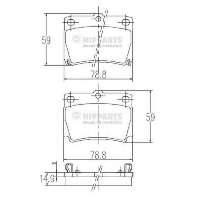 Колодки тормозные NIPPARTS J3615011 MMC Pajero Sport задн.