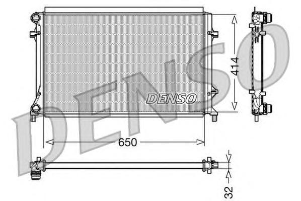 Радиатор охлаждения AUDI A3 II 2.0 FSI - 16V/ VOLKSWAGEN GOLF V
