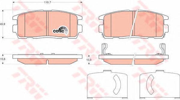 Колодки задние CHEVROLET CAPTIVA, OPEL ANTARA GDB1716