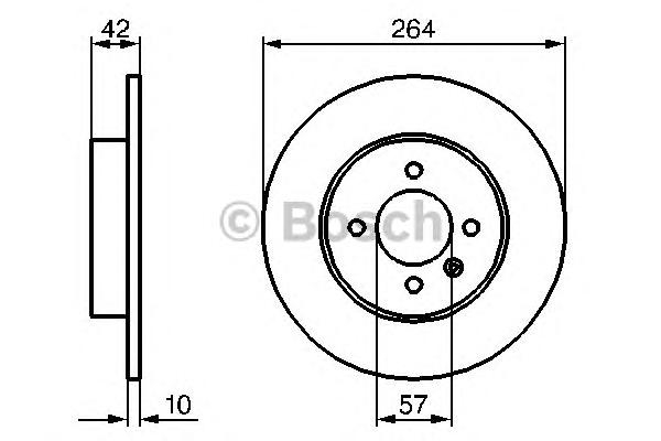 Диск тормозной задн OPEL: ASTRA H 1.8 04-