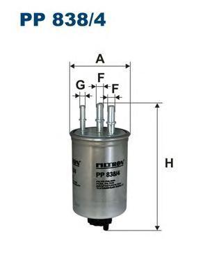 Фильтр топливный PP838/4