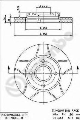 Диск тормозной FORD FOCUS 98>05/FUSION 1.4/1.6 01> передний вентилируемый