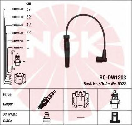 Провода зажигания к-т RC-DW1203 6022
