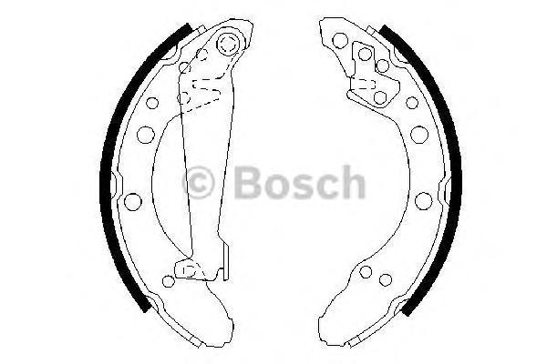 Колодки тормозные BOSCH 0986487536 VW задн.