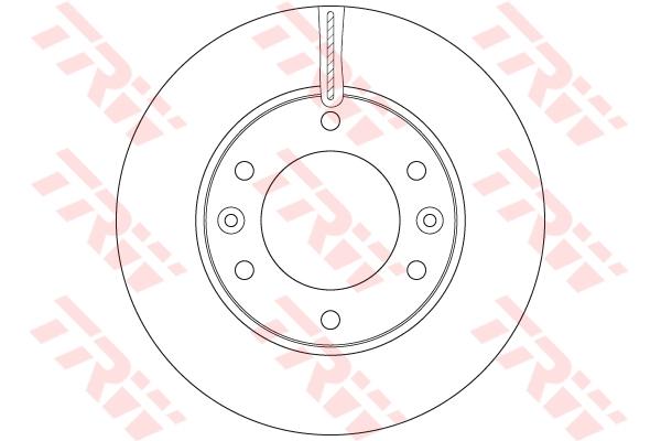 Диск тормозной передний HYUNDAI H-1 (TQ) (300мм) DF6446