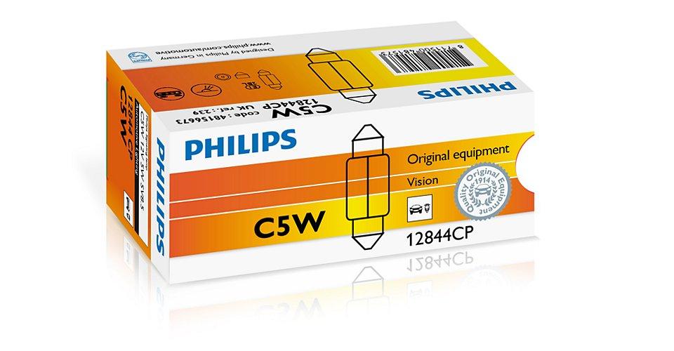 Лампа 12В 5Вт салонная пальчиковая 35мм Philips