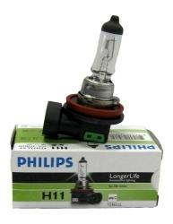 Лампа 12В Н11 55Вт Long Life Eco PGJ19 галогенная Philips