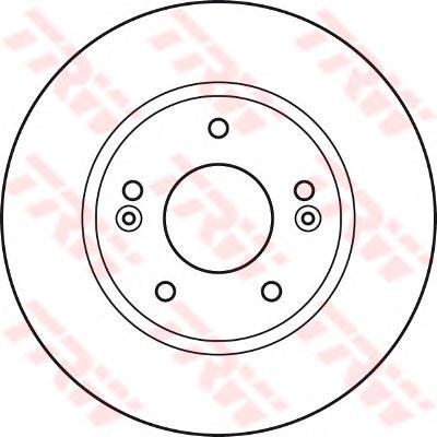 Диск тормозной передний HYUNDAI ELANTRA 06-11 (275мм) DF4922