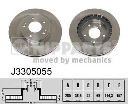 Диск тормозной NIPPARTS J3305055 Pajero Pinin