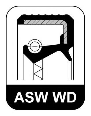 Сальник VAG 45x60x8 F WD ASW ACM