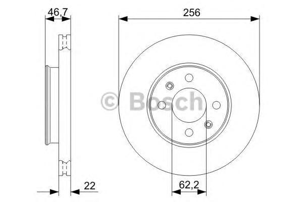 Тормозной диск 0986479367