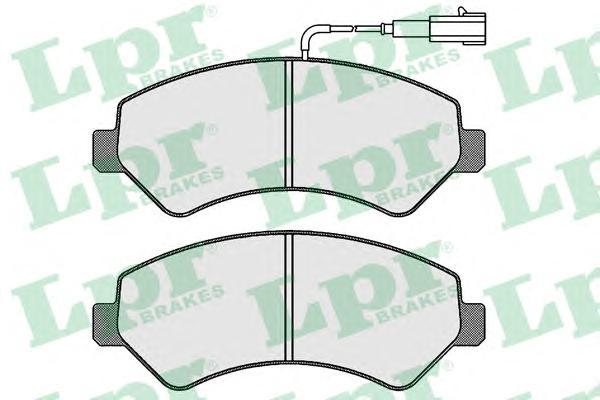 Колодки тормозные LPR 05P1721 PEUGEOT BOXER 10- пер BREMBO