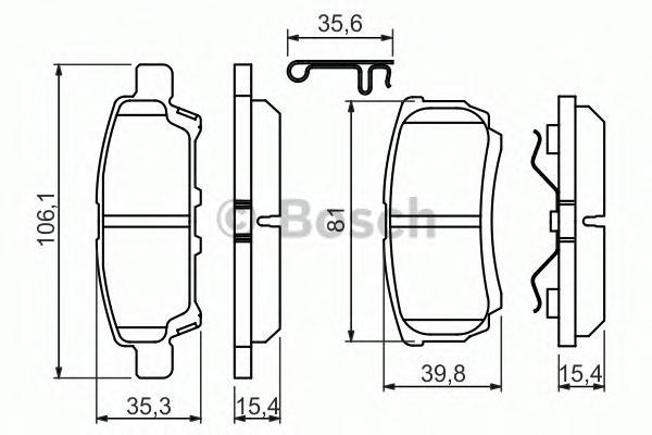 Колодки тормозные MITSUBISHI LANCER IX 03>OUTLANDER 03>08 задние