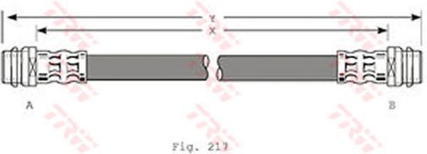 Шланг тормозной задний SKODA FABIA I-II, OCTAVIA (1U), GOLF IV, POLO 2010- PHA341