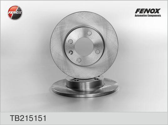 Диск тормозной передний AUDI 80 78-86, VW Golf 74-92, Passat 73-96, Polo 81-01 TB215151