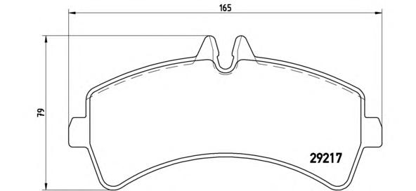 Колодки тормозные MERCEDES SPRINTER (906)/VOLKSWAGEN CRAFTER 06> задние