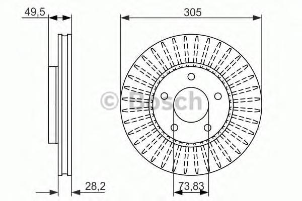 Тормозной диск 0986479698