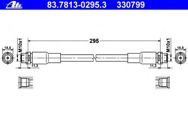 Шланг тормозной AUDI - A4 (8D2, B5) - 1.8 , передний