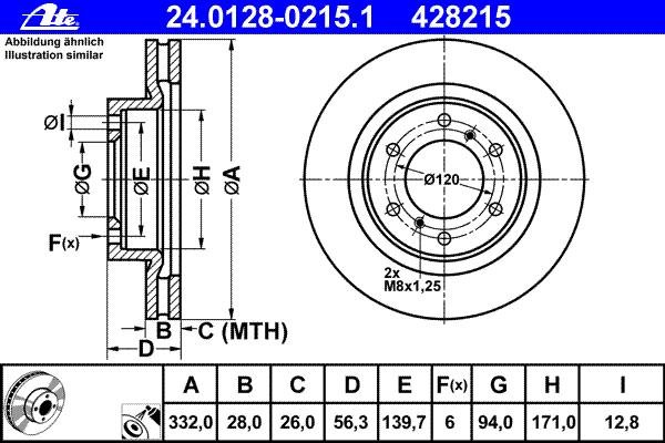 Диск тормозной передн, MITSUBISHI: PAJERO CLASSIC 3.0/3.2 DiD/3.8 02-, PAJERO IV 3.0 4WD/3.2 DI-D/3.2 DI-D 4WD/3.2 TD 4WD/3.8 V6/3.8 V6 06-, PAJERO IV Van 3.2 DI-D