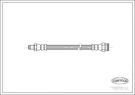 Шланг тормозной ALFA ROMEO: 145 1.4 i.e./1.4 i.e. 16V T.S./1.6 i.e./1.6 i.e. 16V T.S./1.7 i.e. 16V/1.8 i.e. 16V/1.8 i.e. 16V T.S./1.9 JTD/1.9 TD/2.0 1