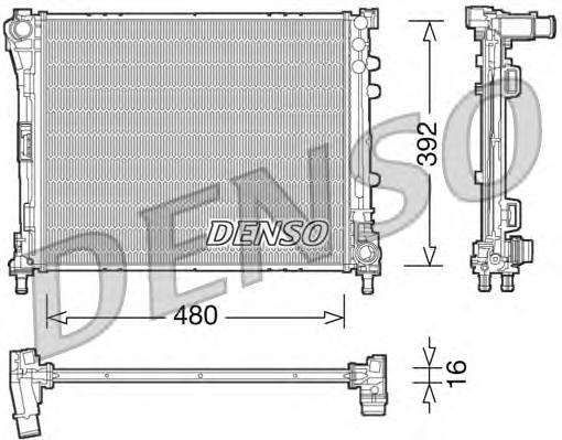 Радиатор системы охлаждения FIAT: 500 1.3 D MULTIJET/1.4 07-