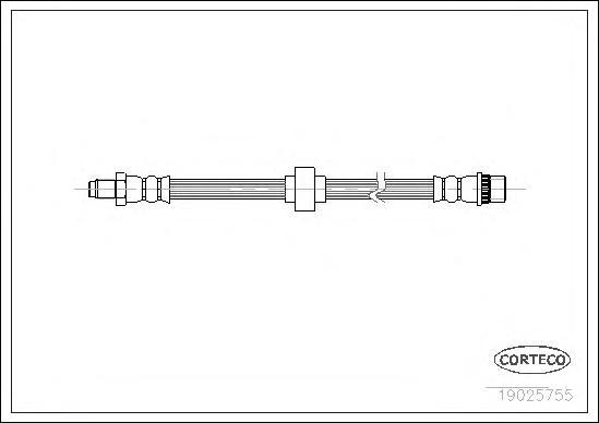 Шланг тормозной OPEL: VIVARO Combi 1.9 DI/1.9 DTI/2.0 16V/2.0 CDTI/2.5 DTI 01-, VIVARO c бортовой платформой 2.0 CDTI 06-, VIVARO фургон 1.9 DI/1.9 DT