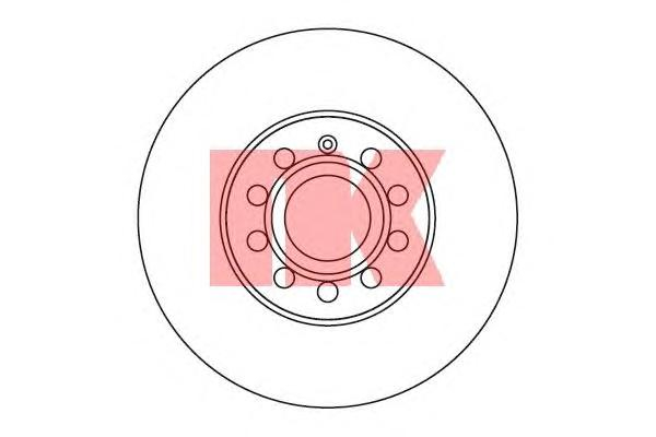 Диск тормозной передний / AUDI A3• SEAT• SKODA Octavia• VW Eos,Caddy-III,Golf-V, Jetta-III, Touran 1.4-2.0FSI/1.9-2.0TDI ( 25-288 ) 05/03~