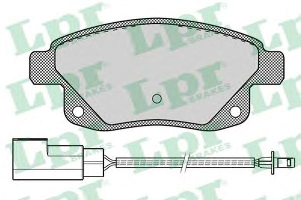Комплект тормозных колодок 05P1261
