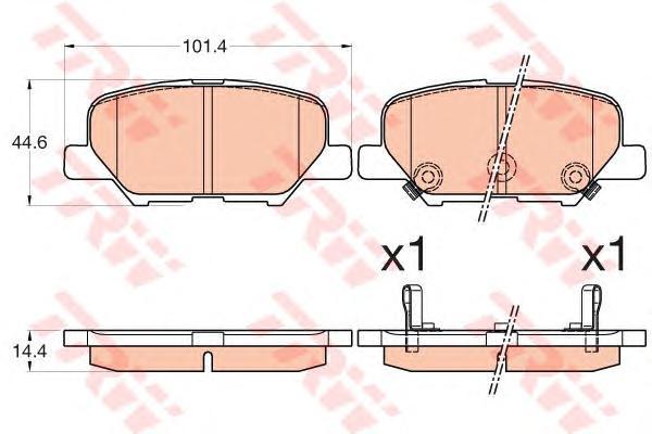 Колодки задние MAZDA 6 (GJ, GH), MITSUBISHI OUTLANDER III GDB3583