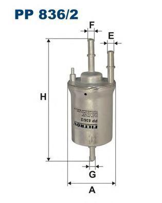 Фильтр топливный PP836/2
