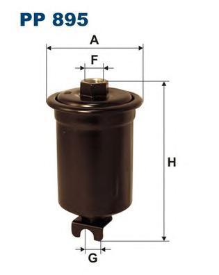 Фильтр топливный KIA Clarus, MI Lancer -03, TO Cel
