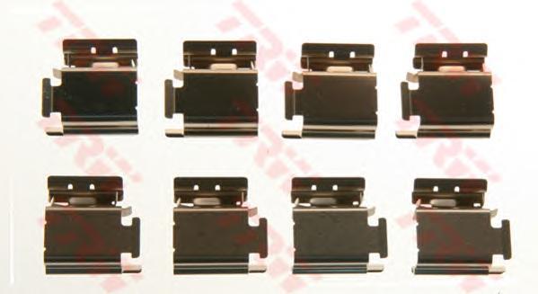 Ремкомплект для перед диск колодок CITROEN C4, PEUGEOT 307 PFK413