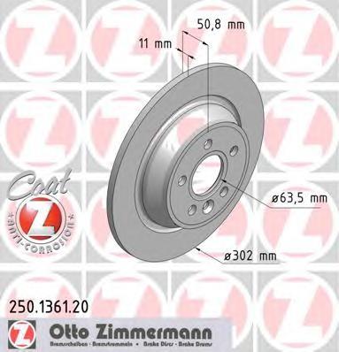 Диск тормозной (заказывать 2шт./цена за1шт.) FORD/JAGUAR с антикоррозионным покрытием Coat Z
