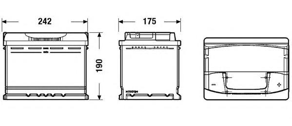 Аккумулятор DETA SENATOR3 12 V 64 AH 640 A ETN 0(R+) B13 242x175x190mm 16.4kg