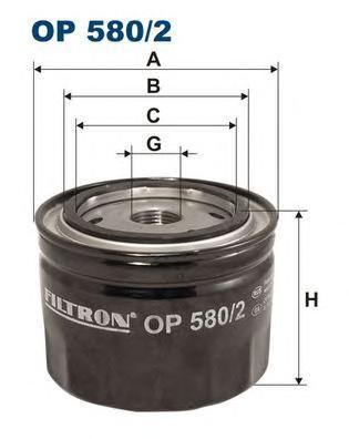 Фильтр масляный FILTRON OP5802 Land Rover Freelander 2.0Di 98-06, Rover 25/45 2.0iDT 95>,GFE392/FT5455/15400PDDE00/ERR5542/ERR5542/LRF000010