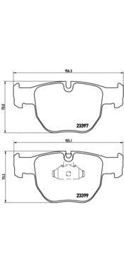Колодки тормозные LANDROVER RANGE ROVER III 02- передние