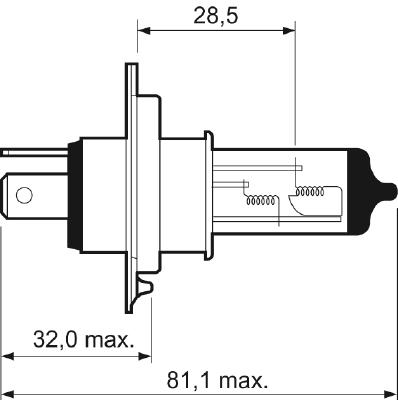 Лампа H4 Essential 032007