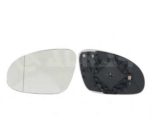 Стекло зеркала прав с подогр, выпукл VW: GOLF V(2003-08),GOLF PLUS (2005-),JETTA(2005-),BORA(2006-),SHARAN (2004-),PASSAT B5 (2003-05),PASSAT B6 (2005-) / SKODA